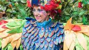 Carnevale di Cento, uno splendido costume (foto Gianfranco Nepitelli)