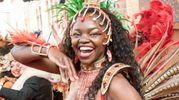 Carnevale di Cento, una ballerina brasiliana (foto Gianfranco Nepitelli)