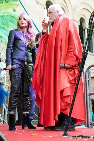 Carnevale di Cento, Jo Squillo e Ivano Manservisi (foto Gianfranco Nepitelli)