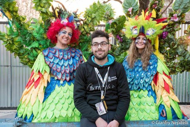 Carnevale di Cento, splendide maschere (foto Gianfranco Nepitelli)