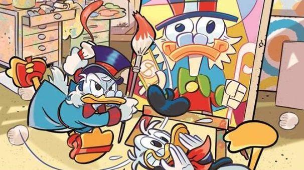 Zio Paperone e Paperino alle prese con l'arte