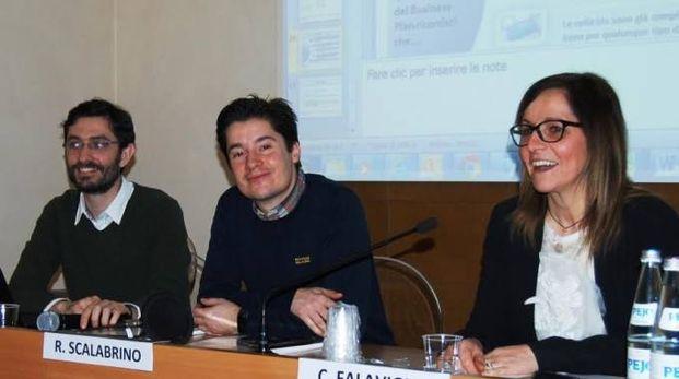 I relatori (da sinistra Luca Petraroia, Riccardo Scalabrino e Cristina Falavigna)