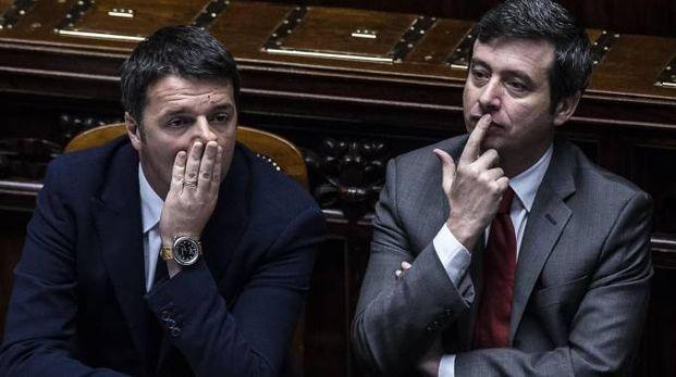 Matteo Renzi e  Andrea Orlando (Ansa)