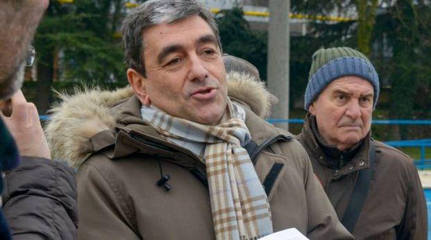 Mariano Savastano durante il sopralluogo