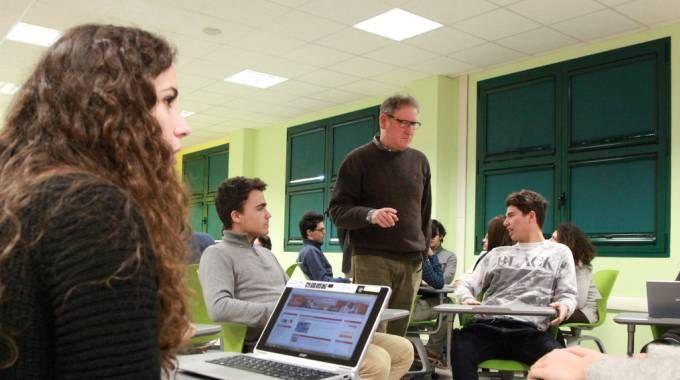 L'aula tecnologica del liceo classico 'Monti' (Luca Ravaglia)