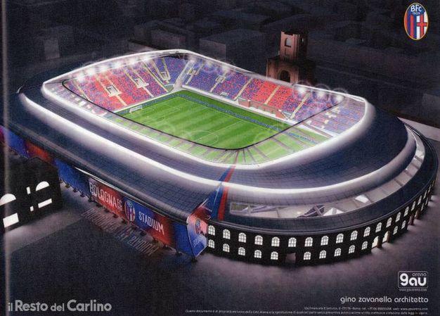 Tutto coperto e senza la struttura di Italia 90: ecco il nuovo stadio