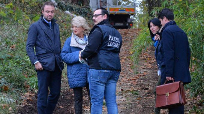 Sopralluogo nella zona dove fu trovato il cadavere di Lidia