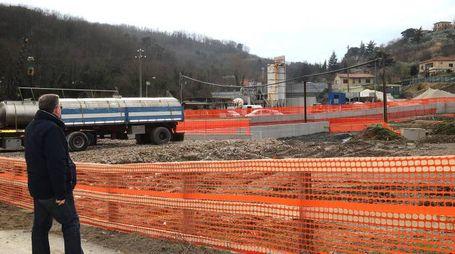Il cantiere del raddoppio ferroviario a Serravalle