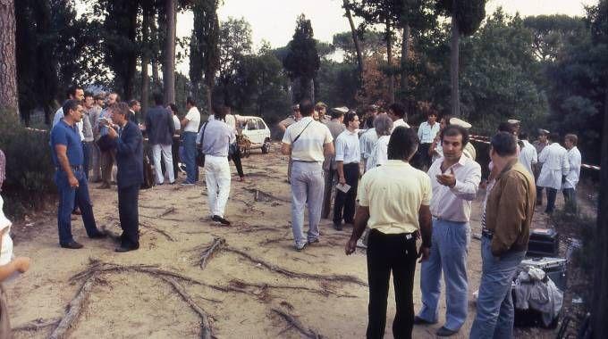 La scena di uno dei delitti del Mostro (Archivio storico New Press Photo)