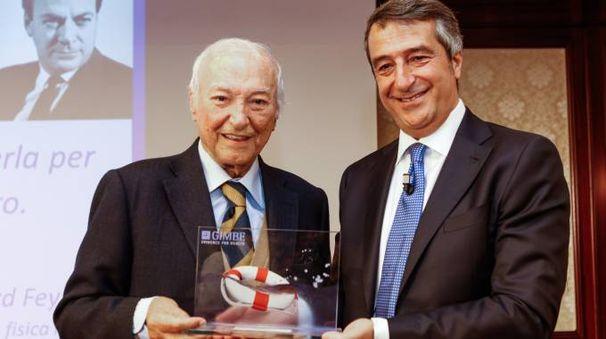 Fondazione Gimbe, premiato Piero Angela (foto Schicchi)