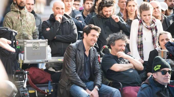 Giamparolo Morelli alias Coliandro durante le riprese di quest'estate