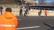 Il cavalcavia crollato sull'autostrada A14