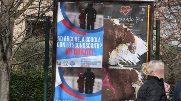 I cartelloni fatti realizzare da Forza Italia, Lega Nord e Fratelli d'Italia (Rossi)