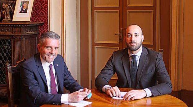 Cesena, il sindaco Paolo Lucchi con il nuovo assessore Lorenzo Zammarchi