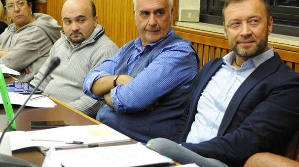 Da sinistra, i consiglieri Amoroso, Perna, Cecchini e Gilardi