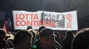 Il corteo è stato organizzato anche dalla vecchia guardia di Lotta Continua (foto Schicchi)