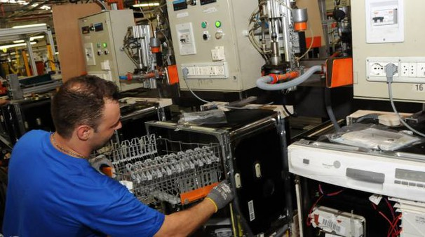 Lo stabilimento di Solaro dell'Electrolux