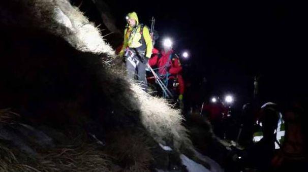 Il salvataggio dei due escursionisti