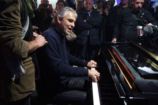 L'inaugurazione delle Officine Bocelli a Lajatico (foto Sarah Esposito/Germogli)