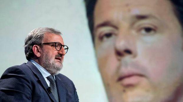 CANDIDATI Emiliano e Renzi corrono per le primarie del segretario nazionale