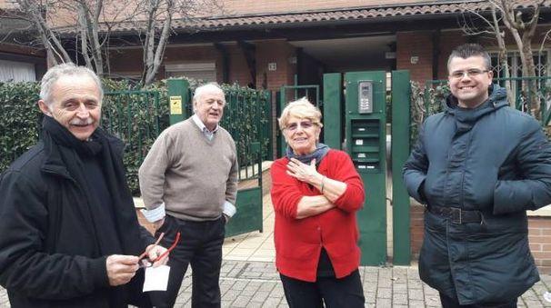 Da sinistra: Ettore Gubellini, Angelo e Lina Manaresi, Davide Draghetti