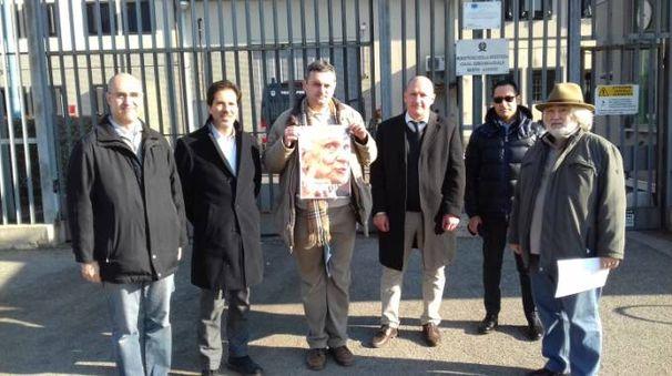 Giuranna durante la visita, insieme a Colombo, Rubagotti, Aventi, Parachini, Mazzola