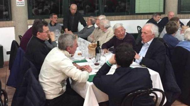 La cena della sede degli Alpini
