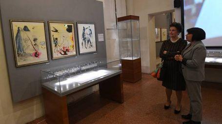 L'inaugurazione della mostra 'Dalì. A Jewish Experience' al Museo Ebraico di via Valdonica (Foto Schicchi)