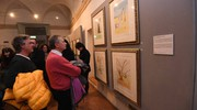 Visitatori alla mostra al Museo ebraico (Foto Schicchi)