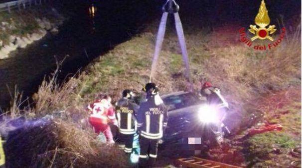 Incidente in via Emilia a Cavenago