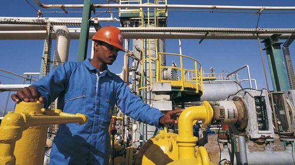 Un impianto di gas dell'Eni in Egitto