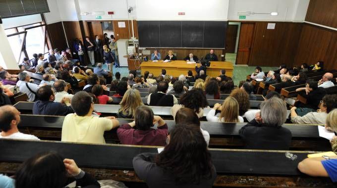 Un'aula dell'università di Bologna (Schicchi)