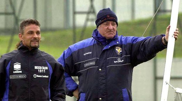Carletto Mazzone e Roberto Baggio