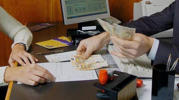 Una banca (foto archivio)