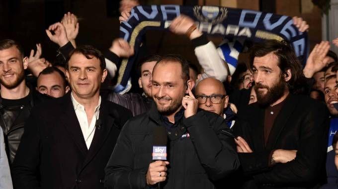 Ferrara in festa con la Spal e i suoi giocatori (foto Businesspress)