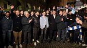 Ferrara, la Spal festeggiata in centro da 200 tifosi (foto BusinessPress)