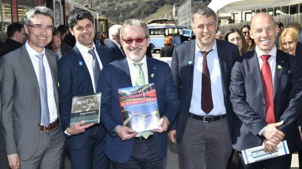 Il Governatore Maroni a Tirano stamattina per la firma dell'accordo
