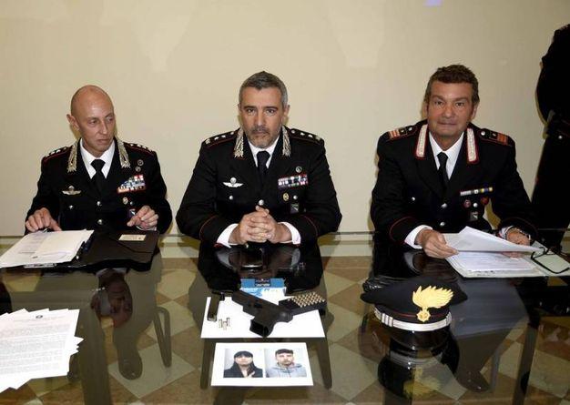 Un momento della conferenza stampa dei carabinieri (foto Businesspress)