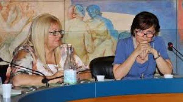Il sindaco Rossetti sulla destra con la ex vice Piera Landoni