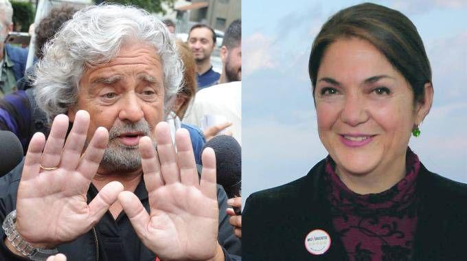Beppe Grillo e Marika Cassimatis (Newpresse, Ansa)