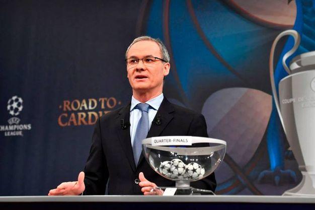 Giorgio Marchetti, direttore delle competizioni Uefa. E' l'uomo dei sorteggi (Afp)