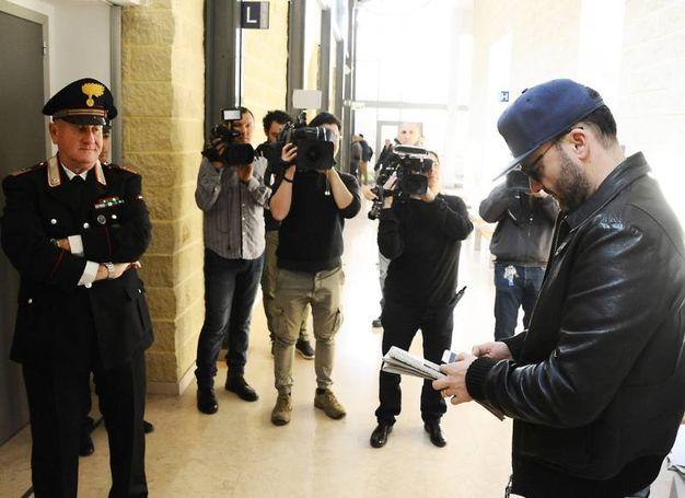 L'amico e manager di Gessica Notaro, Mauro Catalini, in tribunale (foto Migliorini)