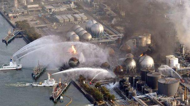 Una immagine del disastro di Fukushima