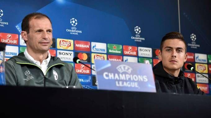 Allegri e Dybala, la Juventus ha il Barcellona ai quarti di Champions (LaPresse)