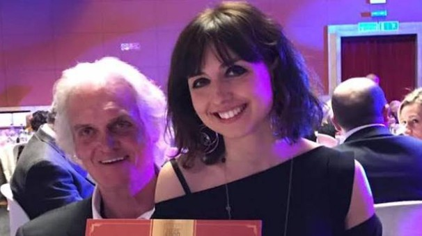 Giulia e Bruno Tissi con il riconoscimento ai Tuscany food awards