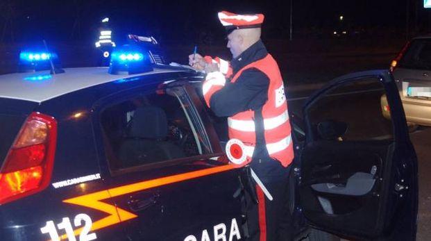 Sul luogo i carabinieri