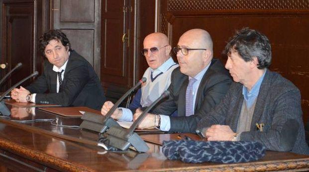 Da sinistra Fagnani, Sacchi, Brunelli e Cicognani
