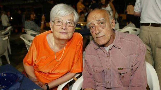 Novello Novelli con la moglie (New Press Photo)