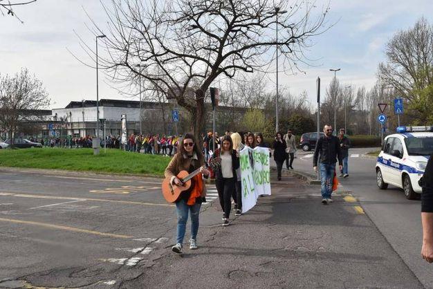 Solidarietà al processo 'Aemilia' contro la 'ndrangheta (foto Artioli)