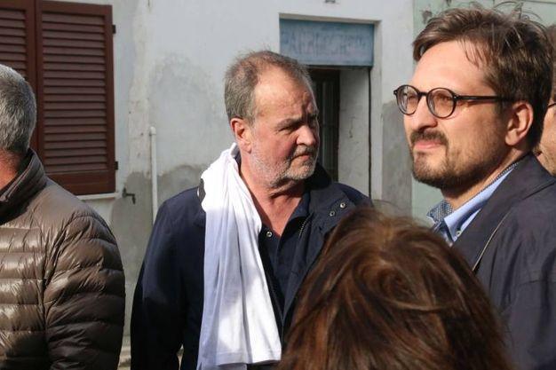 Roberto Calderoli al corteo 'Io sto con Mario'